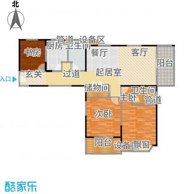 公园养生豪庭132.02-133.43平方米三房户型
