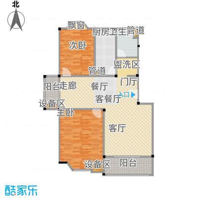 公园养生豪庭102.66-104.05平方米二房户型