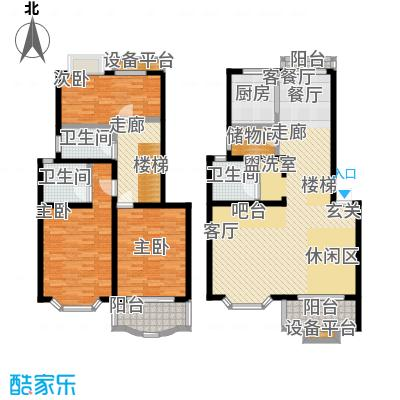 东苑半岛花园一期163.00㎡房型: 复式; 面积段: 163 -177 平方米; 户型