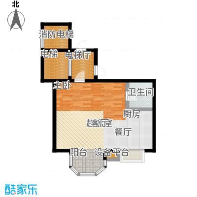 心海假日视界200828#37#楼标准层单户图6户型