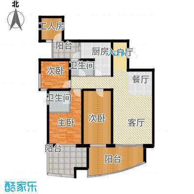 龙湖世纪峰景139.00㎡B型户型3室2厅2卫