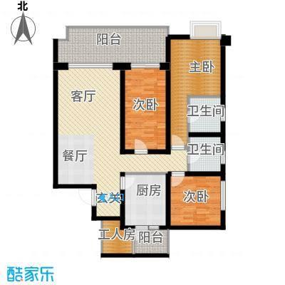 龙湖世纪峰景128.00㎡D户型10室