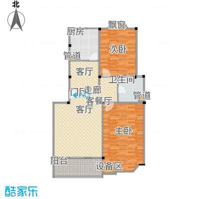 公园养生豪庭93.08-94.46平方米二房户型