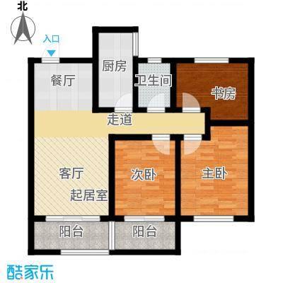 长九中心公园9号98.00㎡8-B-偶数层户型10室
