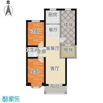 吴兴庄园94.17㎡两室两厅一卫户型2室2厅1卫