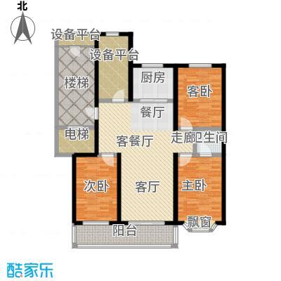 吴兴庄园132.02㎡三室两厅二卫户型3室2厅2卫