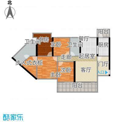中德英伦城邦88.00㎡K户型 4-31层 4室2厅2卫户型4室2厅2卫