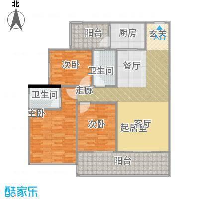 中德英伦城邦89.00㎡S(二)户型 5-29层 3室2厅2卫户型3室2厅2卫