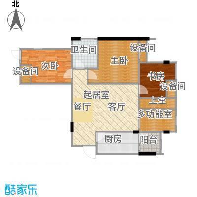 美洲花园E区2期88.71㎡户型3室2厅1卫