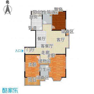公园养生豪庭132.61-133.94平方米三房户型