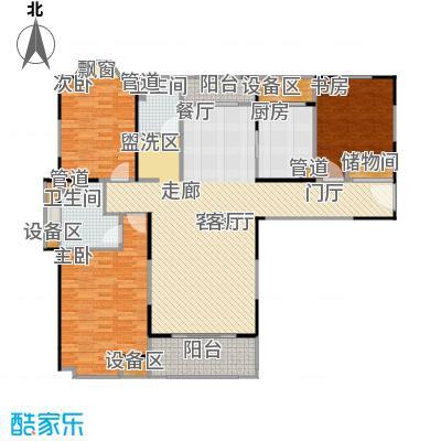 公园养生豪庭130.25-131.65平方米三房户型