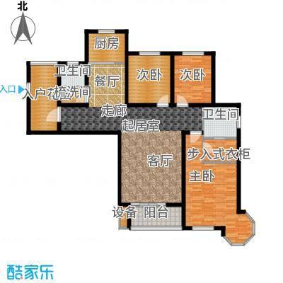 西城国际136.20㎡01户型3室2卫1厨