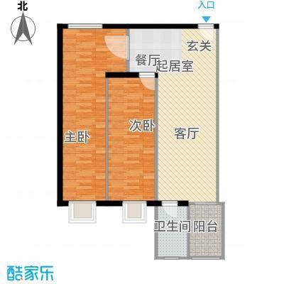 清凉盛景80.85㎡2室2厅1卫户型2室2厅1卫