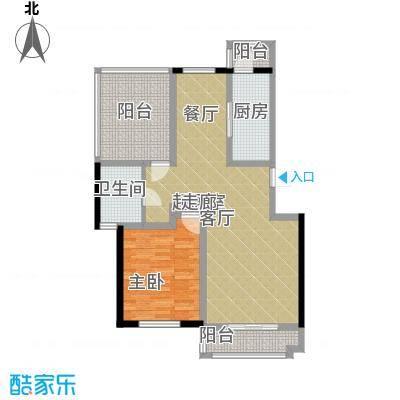 朝阳绿茵 朝阳上品一室两厅一卫 84.49-85.03平米户型