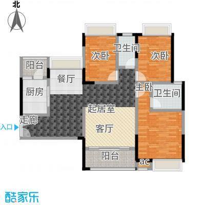 丽景名筑112.00㎡21-22栋01、04单位112平米三房两厅户型3室2厅2卫