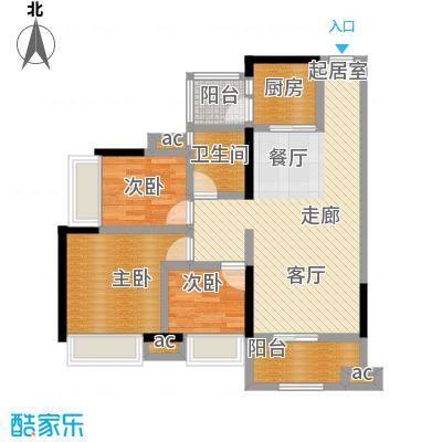 丽景名筑89.80㎡13、14座03、08房89.8平米三房两厅一卫户型3室2厅1卫