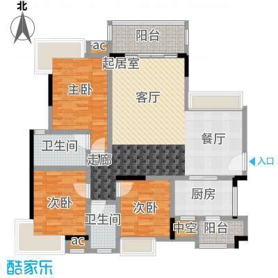 丽景名筑112.95㎡13、14座01、02房112.95平米三房两厅两卫户型3室2厅2卫