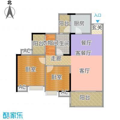 远洋启宸88.00㎡31栋04单位88平米三房两厅一卫户型3室2厅2卫