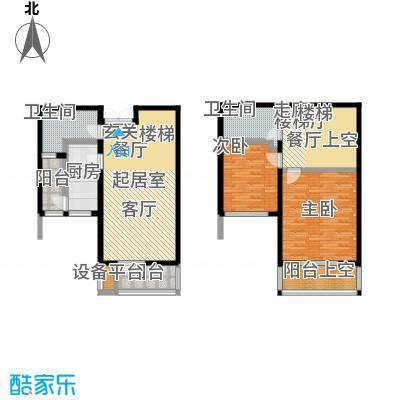 世纪梧桐公寓115.00㎡C型 1号楼 二室二厅二卫户型