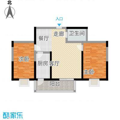 虹畔馨苑7号楼02单元J标准层二室一厅户型