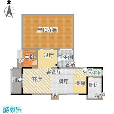 嘉路华花园215平方米四房两厅复式户型图(2)户型4室2厅1卫