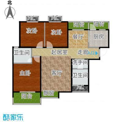 东岭欣城110.10㎡B1户型 3室2厅2卫1厨户型