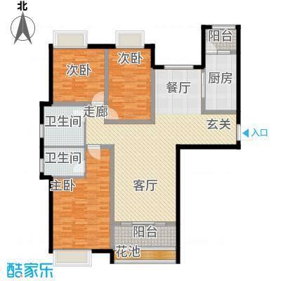 盛弘朗庭未命名户型3室1厅2卫1厨