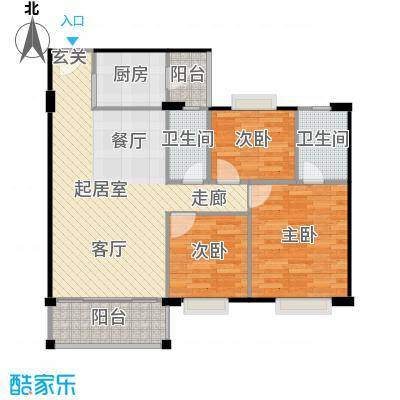 金朗华庭93.92-95.46平米户型3室2厅2卫