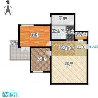 福安公寓AB栋104.16㎡二房户型