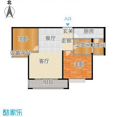 环球翡翠湾花园93.62㎡房型: 二房; 面积段: 93.62 -96.45 平方米; 户型