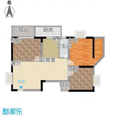 欧亚大厦(经开观澜港)121.50㎡三房户型