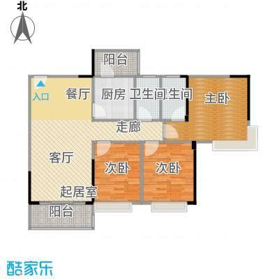 纯水岸103.27㎡3栋03户型3室2厅2卫