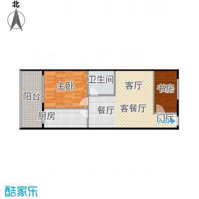 金裕青青家园(西区)69.52㎡两室两厅A户型