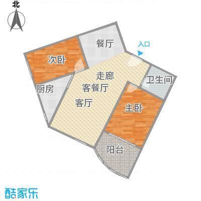 金裕青青家园(西区)69.52㎡两室两厅C户型