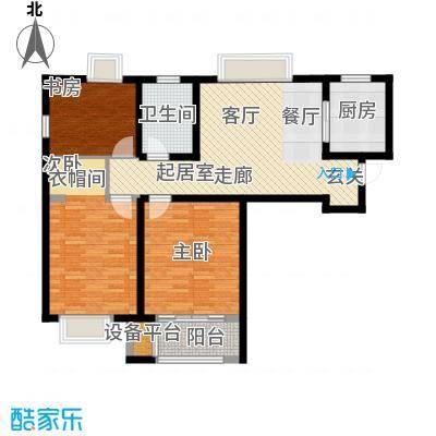 蓝天苑户型3室1卫1厨