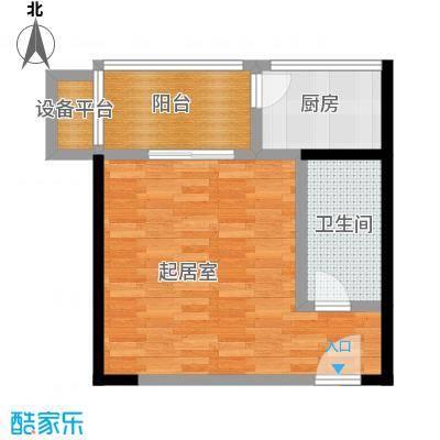 爱菊佳园51.35㎡一室一卫户型1室1卫