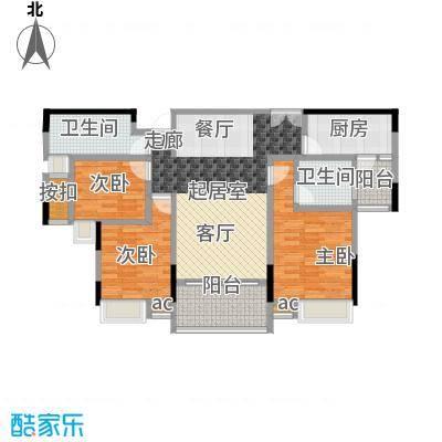 丽景名筑115.00㎡10栋02房115平米三房两厅户型3室2厅2卫
