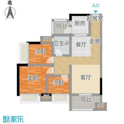 丽景名筑89.90㎡12座03、08房89.9平米三房两厅一卫户型3室2厅1卫