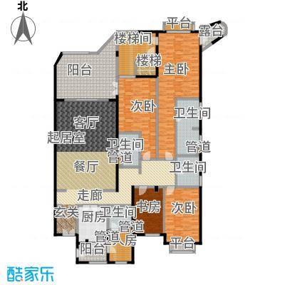 城市经典花园夏宫四房两厅四卫-277.71平方米户型