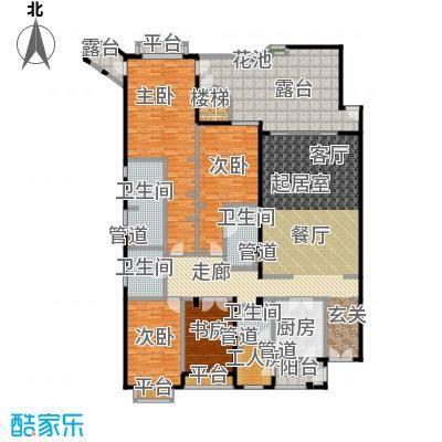 城市经典花园夏宫四房两厅四卫-270.63平方米户型