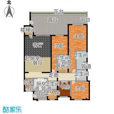 城市经典花园夏宫四房两厅四卫-252.26平方米户型