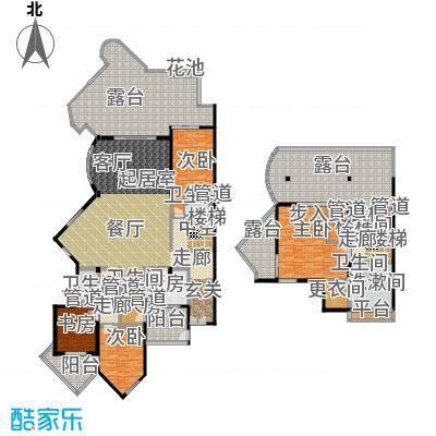 城市经典花园夏宫复式-314.32平方米户型