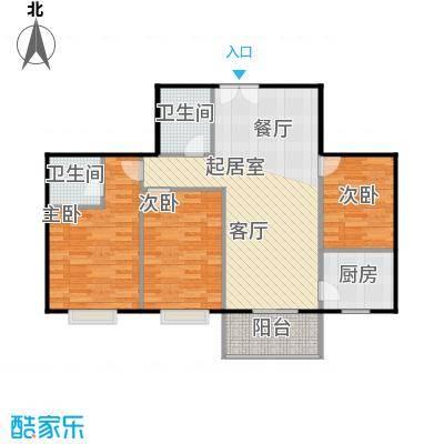 八佳花园20#楼(西城品格)92.25㎡三房B2户型