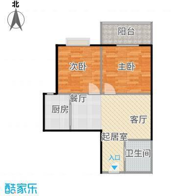 八佳花园20#楼(西城品格)61.33㎡二房E2户型