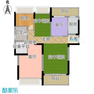 中岛明珠一房108平米户型