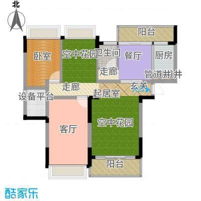 中岛明珠一房97平米户型