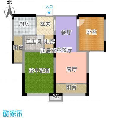 中岛明珠一房82平米户型