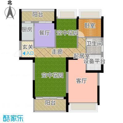 中岛明珠一房106平米户型