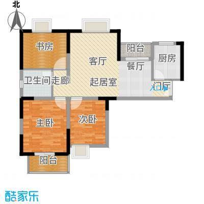 野风・现代景苑87.21㎡6#2单元3-25层04户型10室