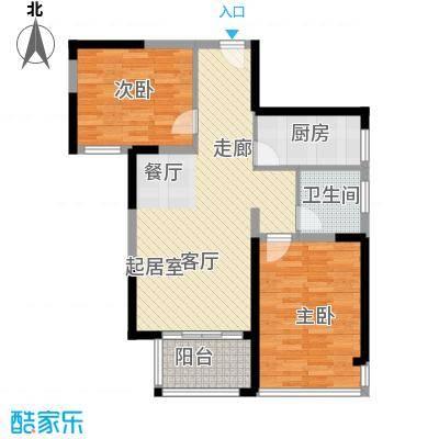 中祥玖珑湾78.15㎡户型2室2厅1卫